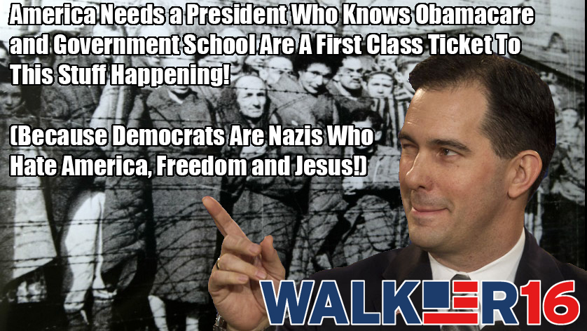 Anti Intellectualism In America >> Scott Walker Tweets Image With Nazi Death Camps to 'One-Up' Donald Trump