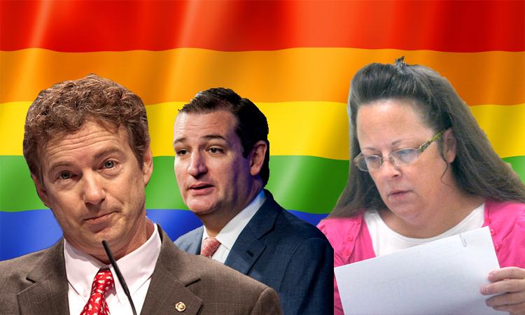 Cruz and Paul Defend Kim Davis, Because They're 'A-Holes Extraordinaire'