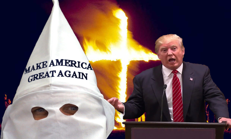 Donald Trump Stump Speech Breaks Out at Klan Rally