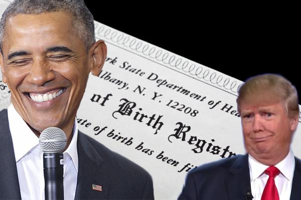 Report: Obama Still Secretly Questions Trump's Human Birth Certificate
