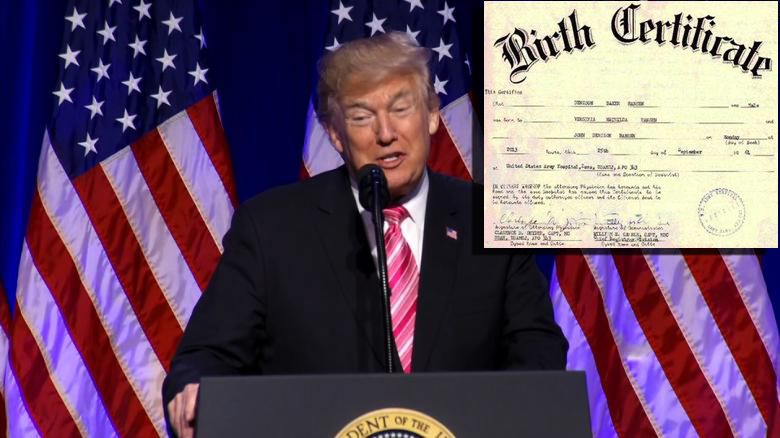 Trump Asks Civil Rights Museum Tour Guide For His Long Form Birth Certificate