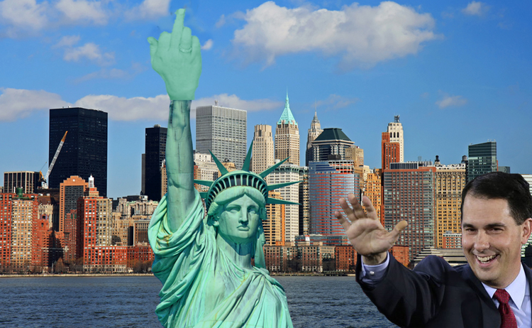 Scott Walker Wants To Replace Statue Of Liberty Torch With