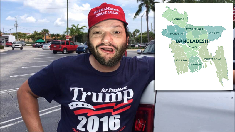 Trump Supporter Wants Trump Wall Extended From Mexico To Bangladesh